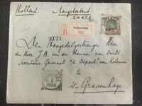 1909 Buitenzorg Netherlands Indies Registered Cover to The Hage Holland
