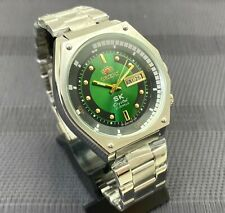 NEW Watch Orient SK Sea King Crystal KD King Diver Green Dial Watch SERVISED