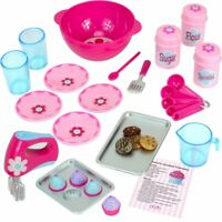"FOR American Girl Dolls Baking Set 23 Piece works for 18"" Doll Food Accessories"