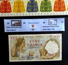 (FR), FRANCE, 100 Francs, Sully, Date : AC .16/8/1940. AC.