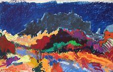 Hanin Serge pastel sur carton signée 1991 les baux la Normandie Suisse