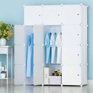 DIY 12 Cube Closet Wardrobe Modular Storage Organizer Clothes Kids Furniture