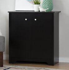 South Shore Vito Small 2-Door Storage Cabinet in Pure Black Finish, 10329 New