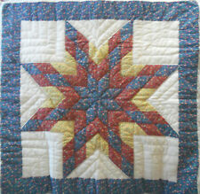 Hand Made Table or Wall Quilt Lonestar or Star of Bethlehem Pattern