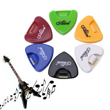Alice 5 Pcs Plastic Guitar Pick Plectrum Holder Cases Portable Triangle Shape