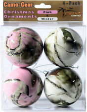 Next Camo Christmas Ornaments - Pink White Camouflage Holiday Decor