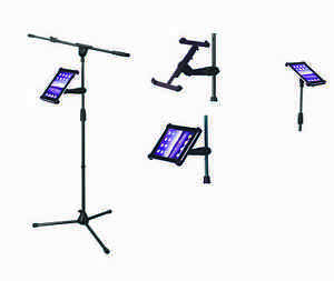 IPAD HOLDER CLAMP FOR MICROPHONE STAND - READ LYRICS ETC