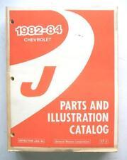 1982 1983 1984 CHEVROLET CAVALIER ORIGINAL DEALER PARTS AND ILLUSTRATION CATALOG