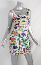 LIPSY LONDON Womens Multicolor Flirty Floral Pleated Sleeveless Mini Dress 2 NEW