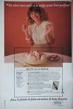 PUBLICITÉ DE PRESSE 1978 - ALSA RECETTE OEUFS A LA NEIGE - ADVERTISING