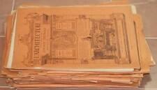 L'ARCHITECTURE JOURNAL HABDOMADAIRE 1904 1905 ARCHITETTURA ARCHITECTURE PROGETTO