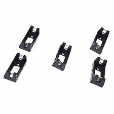 PCB Plugin Type Cr123a Lithium Battery Holder Socket Black 5 Pieces V7w7