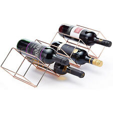 COPPER METAL MODERN 7 BOTTLES WINE RACK STAND HOLDER KITCHEN BAR CABINET DISPLAY