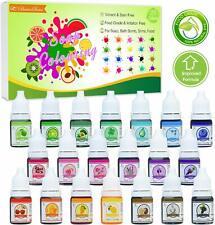 20 x Coloranti per saponi concentrati, Ideali per saponette bombe da bagno slime