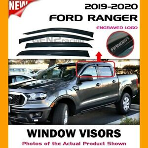 WINDOW VISORS for Ford 2019 2020 2021 Ranger / DEFLECTOR RAIN GUARD VENT SHADE