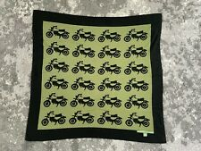 """Gently Used Amber Hagan Cotton/Cashmere Baby Crib Blanket Motorcycles 30"""" x 30"""""""