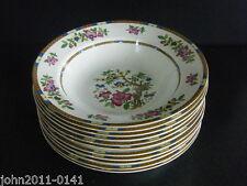 """Indian Tree Soup Bowls x 10 Cauldon Potteries Allertons Ltd 9.75"""" 24cm"""
