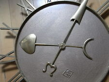 TN ~ Telenorma Bahnhofsuhr Uhrwerk fehlt um 1930 Mutteruhr Uhr Hauptuhr Nebenuhr