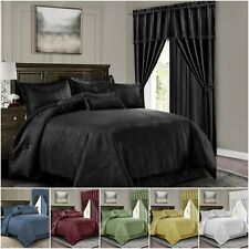 Chezmoi Collection Devon 7pc Geometric Symbol Jacquard Comforter or Curtain Set