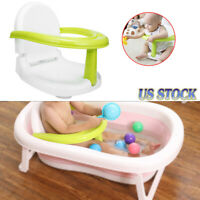 3 in 1 Infant Newborn Baby Bath Seat Foldable Anti-Skid Tub Indoor & Outdoor USA