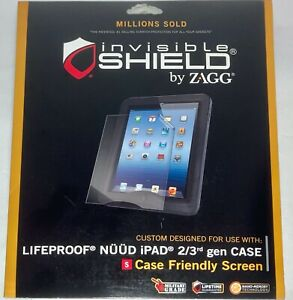 Invisible Shield by ZAGG custom-made for Lifeproof Nüüd iPad 2/3rd gen Case