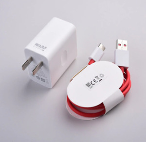 Oneplus 6 7 8 pro Warp Dash Fast Wall charger USB 1M Type-C Cable 5V 6A 30W