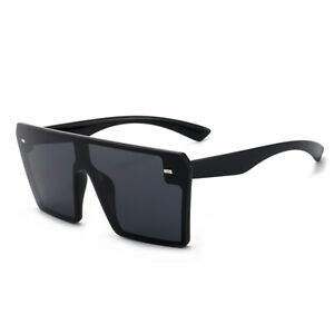 Sunglasses Ladies Women's Large Frame Vintage Retro UV400 Designer Oversized