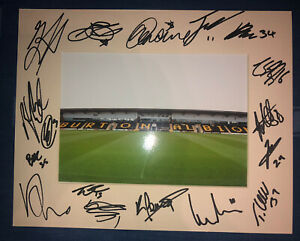 Burton Albion 21/22 HAND SIGNED 10x8 MOUNT DISPLAY Signed By 16?Players