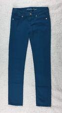 American Eagle Skinny Stretch Bright Sky Blue Color Denim Women's Jeans Size 00