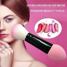 Professional Blusher Brush Make Up Brushes Two Head With -Sponge Cosmetic T Y5Y4
