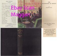 Richard Hull  THE MURDERERS OF MONTY  1st w/fdj 1937 Faber Murder Mystery