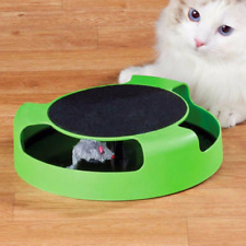 Automatic Toy Tease Cats Interactive Mouse Turntable Toy Smart Teasing Cat Stick