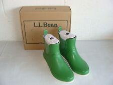 L. L. BEAN GREEN WELLIES PULL-ON RAIN BOOTS - WORN JUST ONCE - EUC