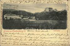 Frankenberg Sachsen 1904 Partie Schloss Sachsenburg alte AK Verlag Otto Möbius
