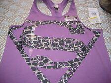 GIRLS YOUTHS UNDER ARMOUR HEATGEAR TANK TOP VEST YXL XL SUPERMAN WOMAN NWT