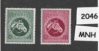 MNH stamp set / 1944 Third Reich era / Vienna Gran Prix Horse Race  WWII Germany