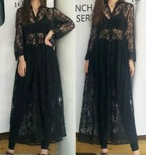ZARA Black Embroidered Sheer Long Camisole Dress  extra Large T  Tunic