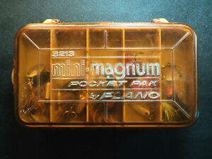 PLANO Double Sided Mini Magnum Pocket Pak Lure Box 3213 w 30 Spin & Crank Lures