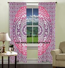 Indian Ombre Mandala Printed Scarf Curtain Panel Sets Curtains Extra Wide Long
