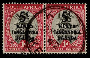 KENYA UGANDA TANGANYIKA GVI SG151, 5c on 1d grey and carmine, FINE USED.