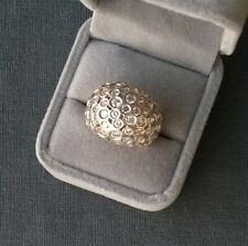 SILVER DIAMONTE RING SIZE N DOME SOLID 925 STERLING