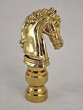 SOLID  BRASS  HORSE  HEAD  ELECTRIC  LIGHTING  LAMP  SHADE  FINIAL      (NEW)