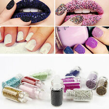 Nail Art 12 Colors Acrylic UV Gel Glitter Powder Beads Decoration Tips Kit Set