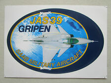 AUTOCOLLANT STICKER AUFKLEBER SAAB JAS 39 GRIPEN FIGHTER ROYAL SWEDISH AIR FORCE