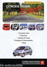 Citroën Xsara Picasso Prospekt Accessoirie 2000 1/00 Blaupunkt Radio brochure