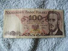 100 Zloty Geldschein aus Polen von 1988 ordentlicher Zustand!! Top!!