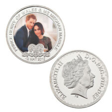 WR Prince Harry And Megan Markle Silver Colored Coin UK Royal Wedding Souvenior
