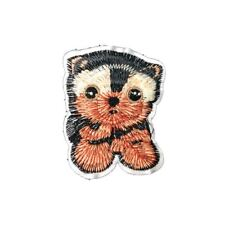 Cute Fluffy Dog (Iron On) Embroidery Applique Patch Sew Iron Badge