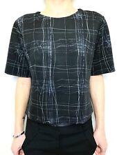 VERONICA MAINE stretch boxy tunic short body top sz medium cap sleeve
