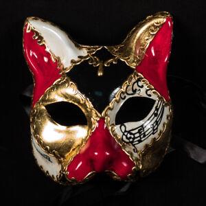 Venetian Mask: Italy. Cat (Half Mask)